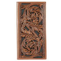 Hooey Men's Signature Rodeo Floral Tooled Wallet