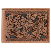 Hooey Men's Signature Rodeo Floral Tooled Bifold Wallet