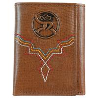 Hooey Men's Roughy Signature Rodeo Color Stitch Trifold Wallet