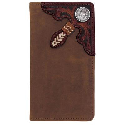 Silver Creek Men's Tooled Buckaroo Wallet