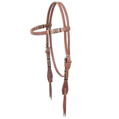 Martin Saddlery Hermann Oak Rawhide Braid Browband Headstall