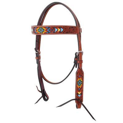Bar H Equine Indian Sunburst Browband Headstall