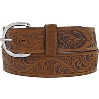 Silver Creek Men's Western Scroll Tooled Belt