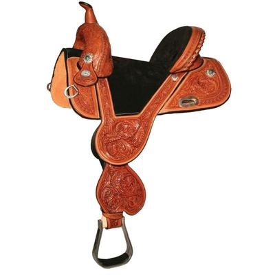 Circle Y Tammy Fischer Daisy Treeless Barrel Saddle 15- 1/2