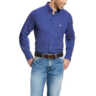 Ariat Men's Blue Doyle Long Sleeve Shirt