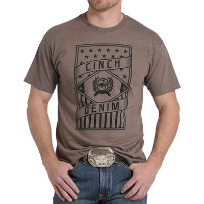 Cinch Men's Brown Stars And Stripes T- Shirt