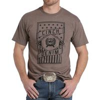 Cinch Men's Brown Stars and Stripes T-Shirt