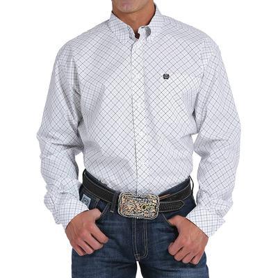 Cinch Men's White Tattersall Plaid Shirt
