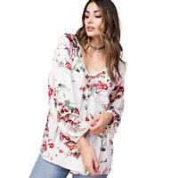 Kori America Women's Pintuck Floral Top