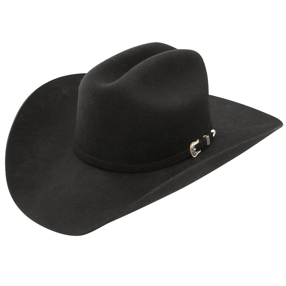 Stetson Oak Ridge Black 3x Felt Cowboy Hat Item   SWOAKR-724007 1d16e67e517