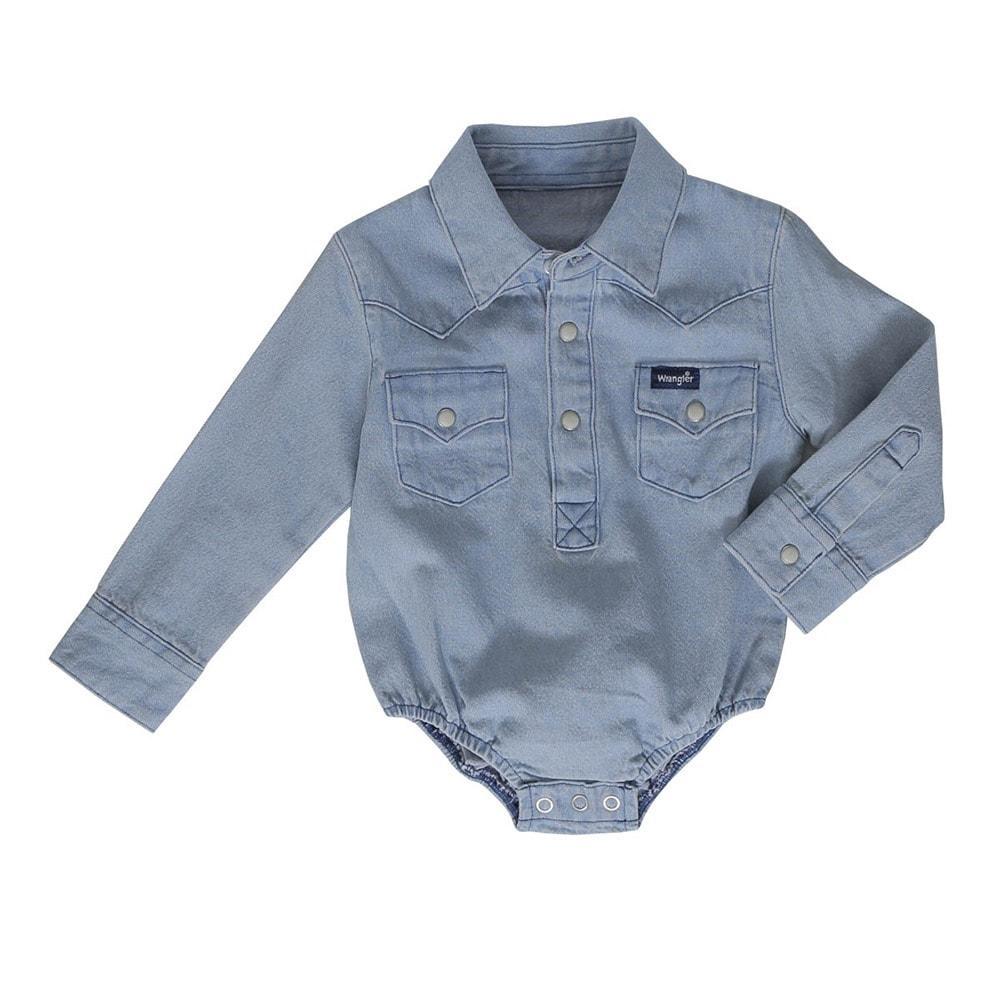 2b1480266875 Wrangler Toddler Boy s Denim Body Suit