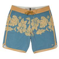 Salty Crew Men's Yellow and Blue Shibi Board Shorts