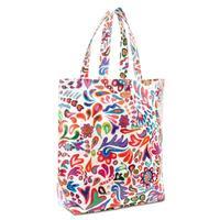 Consuela's White Swirly Basic Bag