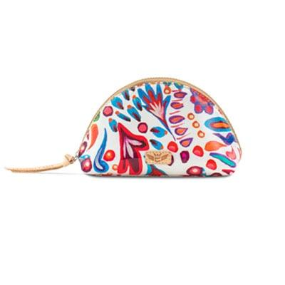 Consuela's White Swirly Medium Cosmetic Bag