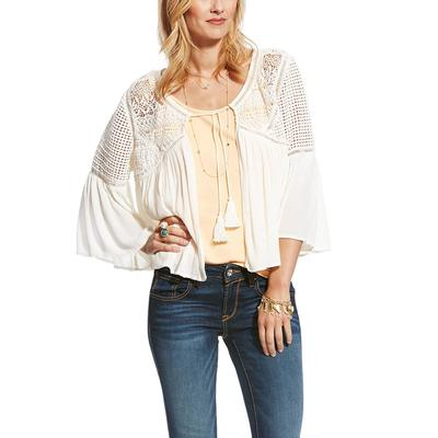 Ariat Women's White Rema Crochet Jacket
