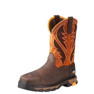 Ariat Men's Orange Intrepid Venttek Work Boots