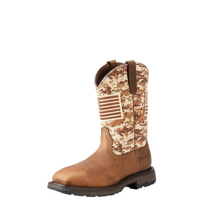 Ariat Men's Workhog Patriot With Flag Boots
