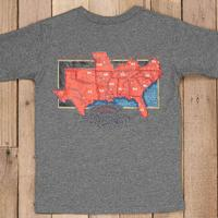 Southern Marsh Boy's Grey South River Route T-Shirt