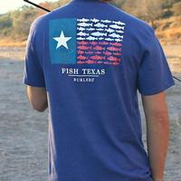 Burlebo Men's Fish Texas Flag T-Shirt