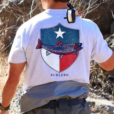 Burlebo Men's Texas Fish Shield Pocket T- Shirt