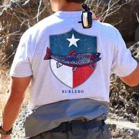Burlebo Men's Texas Fish Shield Pocket T-Shirt