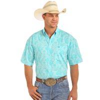 Panhandle Slim Men's Blue Floral Print Shirt