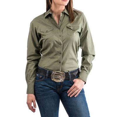 Cinch Women's Olive Western Shirt