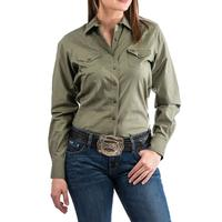 Cinch Women's Olive Western Shirt