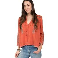 Ivy Jane Women's Ginger Embroidered Top