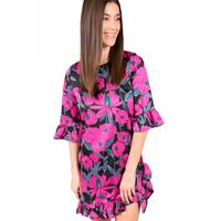 Uncle Frank Women's Fuchsia Floral Tunic Top