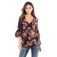 Miss Me Women's Floral Love Galore Top