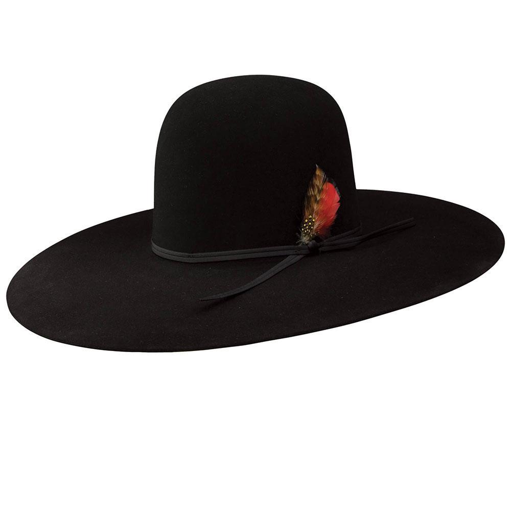 1f912b367 Resistol Mens Chute 5 Black 7x Felt Hat