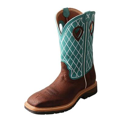 Twisted X Men's Brown and Turquoise Lite Workboot