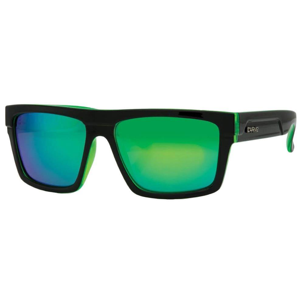 98da2dcbb3e Carve Men s Volley Black Clear Green Sunglasses