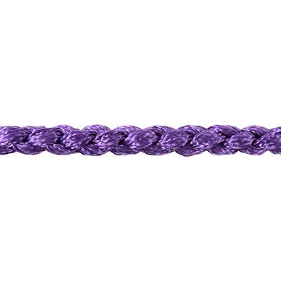 Classic Equine Braided Rope Halter With Lead, Purple