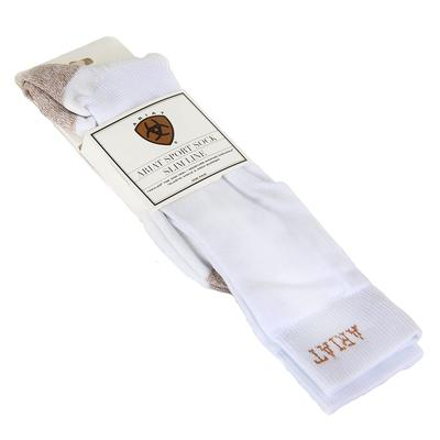 Ariat Men's White Slim Sport Socks