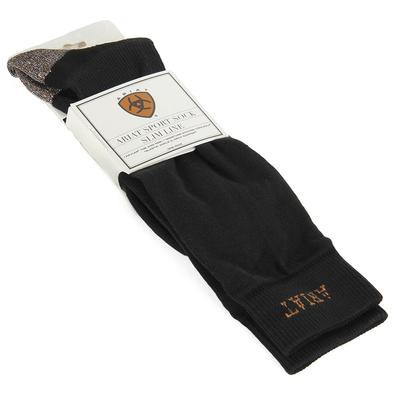 Ariat Men's Black Slim Sport Socks