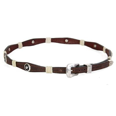 M & F Western's Leather Scalloped Star Hatband