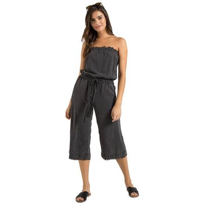 Bella Dahl Women's Strapless Frayed Jumpsuit