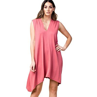 Kori America Women's V-Neck Jersey Dress