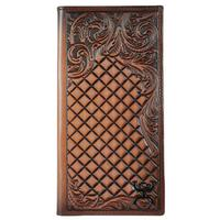 Hooey Men's Signature Rodeo Diamond Tooled Wallet