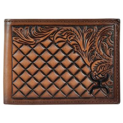 Hooey Men's Signature Diamond Tooled Bifold Wallet