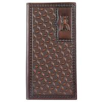 Hooey Men's Punchy Signature Rodeo Geometric Tooled Wallet