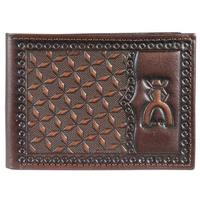 Hooey Men's Punchy Signature Rodeo Geometric Tooled Bifold Wallet