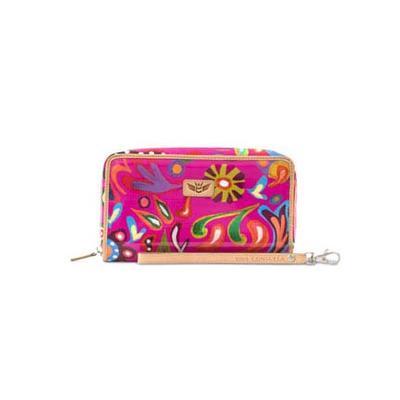 Consuela's Pink Swirly Wristlet Wallet