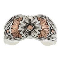 Montana Silversmith's Magnolia Kaleidoscope Cuff Bracelet