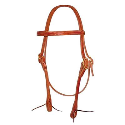Berlin Custom Leather Browband Headstall with Latigo Ties