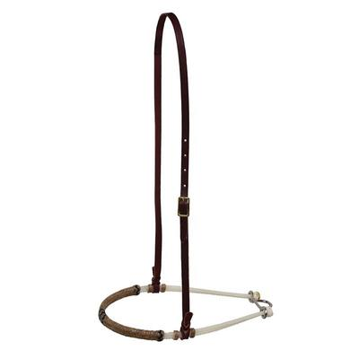 Berlin Custrom Leather Double Rope Braided Rawhide Noseband