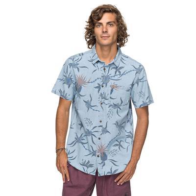 Quiksilver Men's Blue Used Shakka Mate Shirt