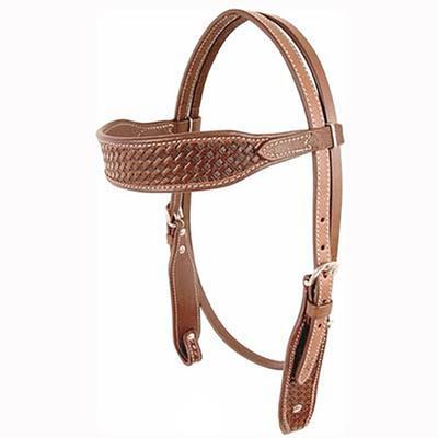 Cashel Basketweave Browband Headstall